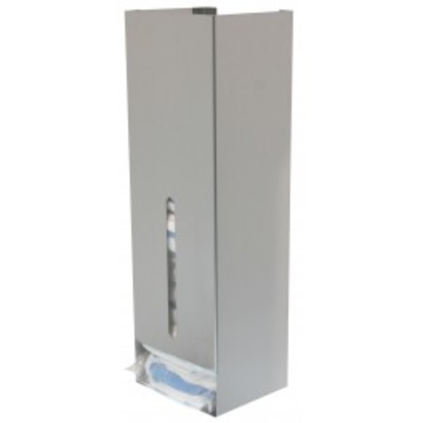 Stainless steel dispenser for visitor's kits